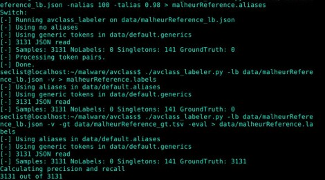 AVCLASS - A Tool for Massive Malware Labeling.