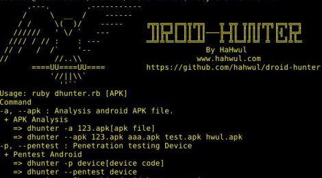 DROID-HUNTER is an Android application vulnerability analysis and Android pentest tool.