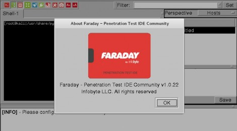 Faraday v1.0.22 - Collaborative Penetration Test and Vulnerability Management Platform.