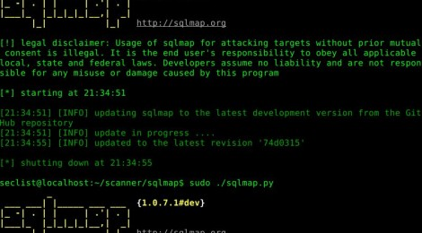 sqlmap v1.0.7 - Automatic SQL injection and database takeover tool.