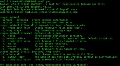 Apktool v2 2 0 – A tool for reverse engineering Android apk files