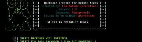 TheFatRat v1.2 codename:xenogenesis - Backdoor Creator For Remote Access.