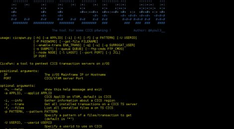 CICSpwn is a tool to pentest CICS Transaction servers on z/OS.