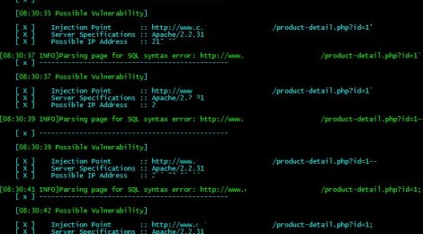 Whitewidow v1.0.6 is an open source automated SQL vulnerability scanner.