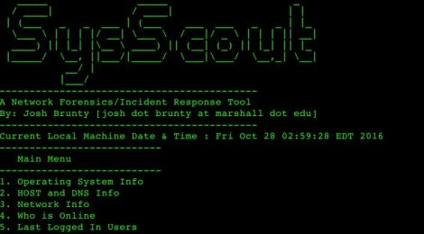 SysScout - A Network Forensics/Incident Response Tool.