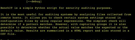 BenchIT is a simple Python script for security auditing purposes.