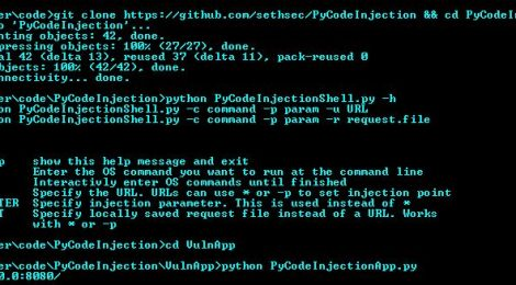 PyCodeInjection - Automated Python Code Injection Tool.