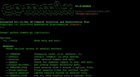 Commix v1.5 - Automatic All-in-One OS Command Injection and Exploitation Tool.