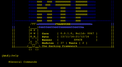 Katana Framework build v0067 - The hacking Framework.