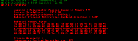 Tool for detecting Meterpreter in memory like IPS-IDS and Forensics tool.