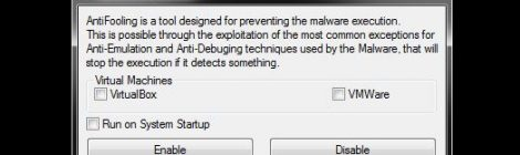 AntiFooling - Prevent the Malware Execution.