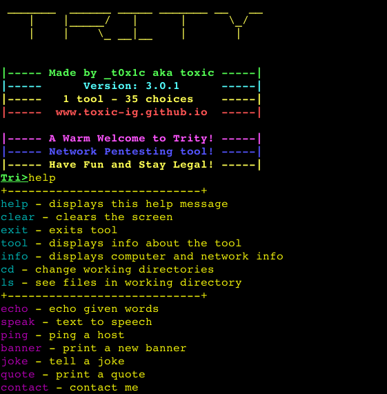 Trity is an advanced pentesting framework from cryptography