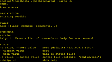Ares is a Phishing toolkit for red teams and pentesters.