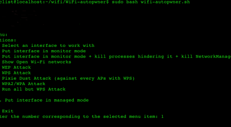 WiFi-autopwner - script to automate searching and auditing Wi-Fi networks with weak security.