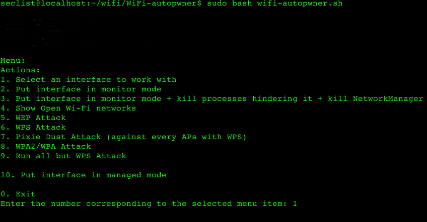 WiFi-autopwner – script to automate searching and auditing Wi-Fi networks with weak security.