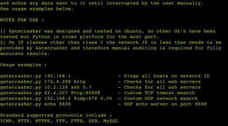 Gatecrasher - Network auditing and analysis tool.