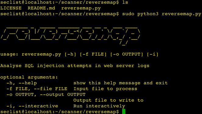 reversemap – Analyse SQL injection attempts in web server logs.