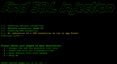 python_gdork_sqli - find sql Injection.