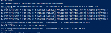 invoke-psdump is a windows command-line packet capture and analysis tool.