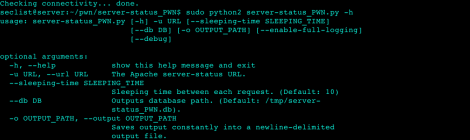 server-status PWN - a script that monitors and extracts URLs from Apache server-status.