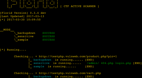 Florid - a ctf active scanner.