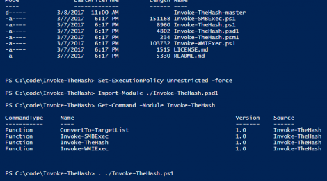 Invoke-TheHash ~ PowerShell Pass The Hash Utils.
