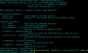 Seth – Perform a MitM attack & extract clear text credentials from RDP connections.
