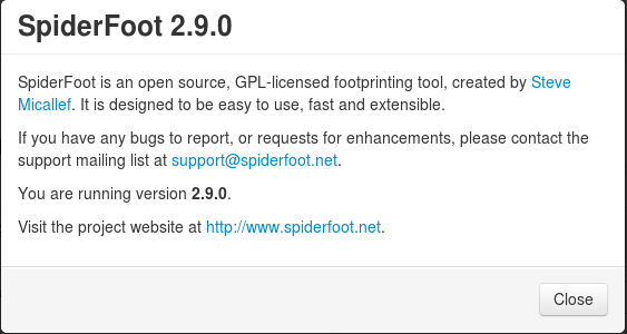 SpiderFoot v2.9.0 – is an open source intelligence automation tool.