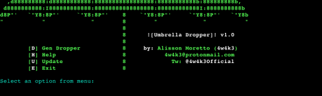 Umbrella - A Phishing Dropper designed to Pentest.