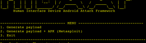 HIDAAF - Human Interface Device Android Attack Framework.