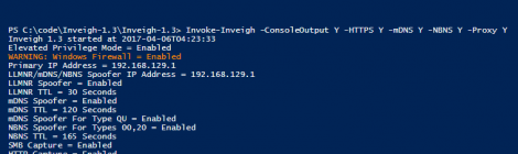 Inveigh v1.3 is a Windows PowerShell LLMNR/NBNS spoofer/man-in-the-middle tool.