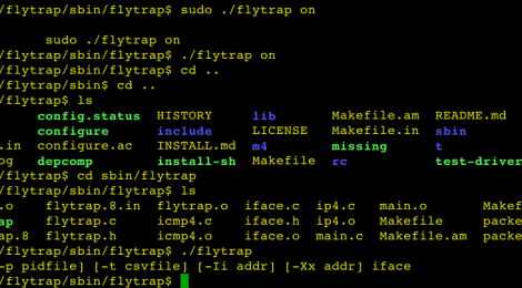 Flytrap is a simple network scan detection and mitigation tool.