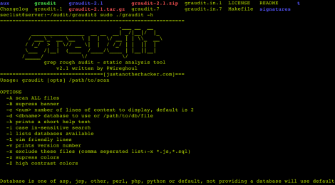 graudit : grep rough audit - static analysis tool.