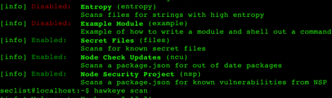 Hawkeye is A project security/vulnerability/risk scanning tool.