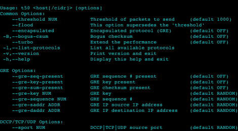 T50 v5.6.8 -  The fatest network Packet Injector.