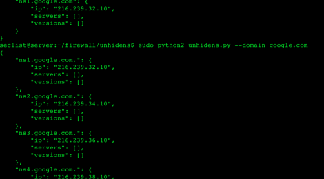 unhidens - Small DNS Recon utility, allows you to obtain some useful info about NS-servers placed behind relays & firewall.