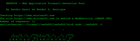 wafw00f - Web Application Firewall Detection Tool.