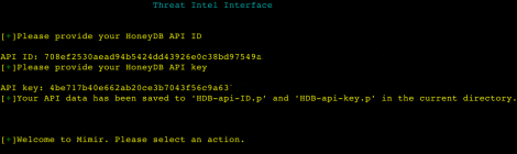Mimir - OSINT Threat Intel Interface.