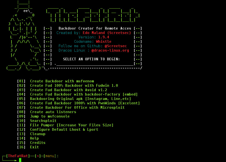 TheFatRat v1.9 – Backdoor Creator For Remote Access ...