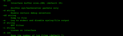 APacket - Sniffer syn and backscatter packets.