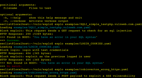 explo - Human and machine readable web vulnerability testing format.