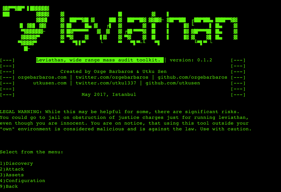 Leviathan – wide range mass audit toolkit  – Security List Network™
