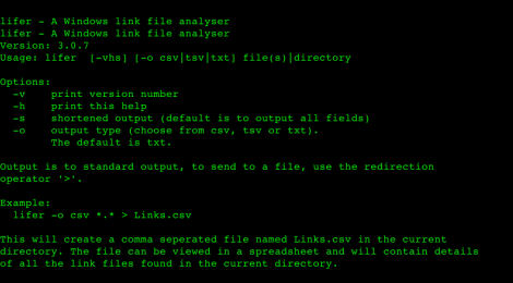 lifer - A forensics tool for Windows link file examinations (i.e. Windows shortcuts).