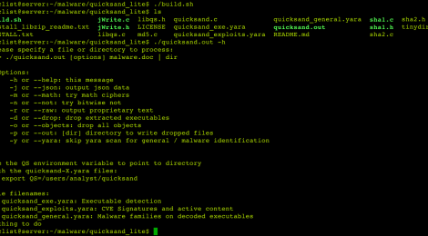 quicksand_lite - Command line tool for scanning streams within office documents plus xor db attack.