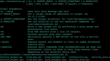 Reconnoitre - A security tool for automating information gathering and service enumeration.