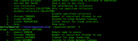 AQUATONE is a set of tools for performing reconnaissance on domain names.