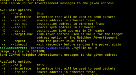 sylkie - Tool for testing networks for common IPv6 vulnerabilities.