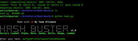 Hash Buster is a python script which scraps online hash crackers to find cleartext of a hash.